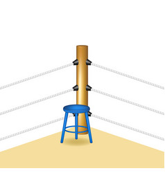 boxing corner with blue wooden stool vector image vector image