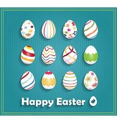 Easter background design vector image