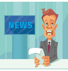 News announcer cartoon vector image