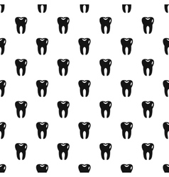 Tooth pattern simple style vector image vector image