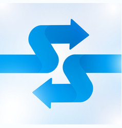 Abstract blue arrow sign growth to technology vector