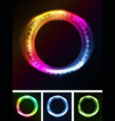 Abstract eyes iris or neon light vector