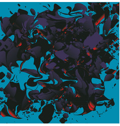 Abstract fluid and liquid monster background vector