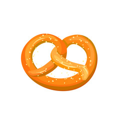 appetizing bavarian pretzel icon vector image