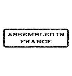 Assembled in france watermark stamp vector