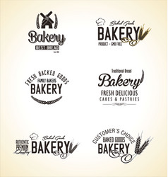 bakery labels collection vector image