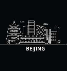 Beijing silhouette skyline china - beijing vector