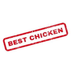 Best Chicken Text Rubber Stamp vector image