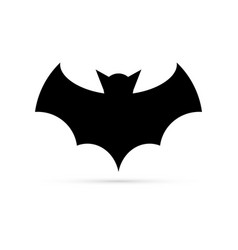 Black bat icon silhouette for halloween vector