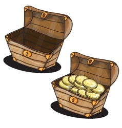 Cartoon chest vector image