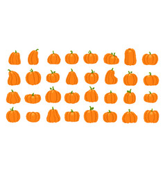 cartoon orange pumpkin halloween october holiday vector image
