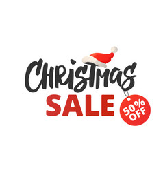 Christmas advertising design christmas sale vector