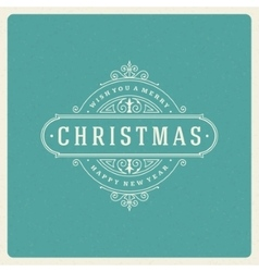 Christmas greeting card flourishes ornament vector
