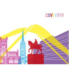 Coventry skyline pop vector