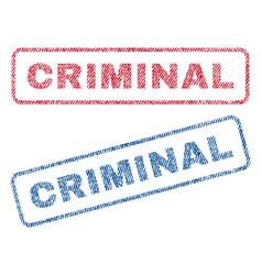 criminal textile stamps vector image