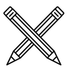 Crossed pencil icon outline style vector