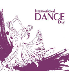 dance day ballroom dancing standard vector image