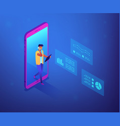 Data insight concept isometric vector