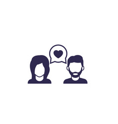 Dating love chat icon vector