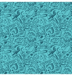 Doodle texture seamless pattern vector image vector image