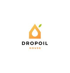 drop oil house logo icon vector image