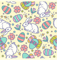 Easter seamless pattern design vector