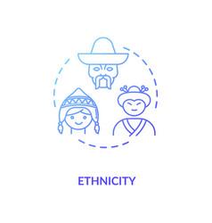Ethnicity blue gradient concept icon vector