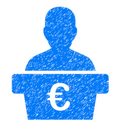 Euro politician grunge icon vector
