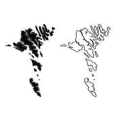 Faroe islands map vector