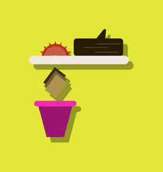 Flat icon design collection paper and trash vector