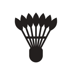 Flat icon in black and white style shuttlecock vector