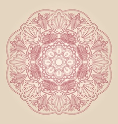 floral and lace vector image