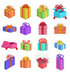 gift boxes birthday present box wedding or xmas vector image