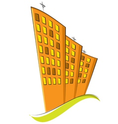 group of residential buildings vector image