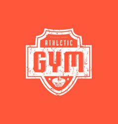 gym club emblem for t-shirt vector image