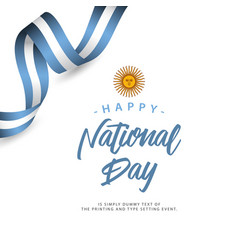 Happy argentina national day template design vector