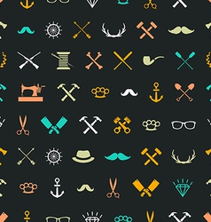 hipster seamless 1 vector image