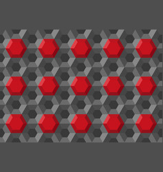 honeycomb hexagon technology medical background vector image