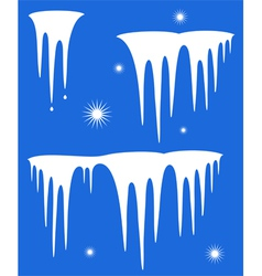 Icicle vector image