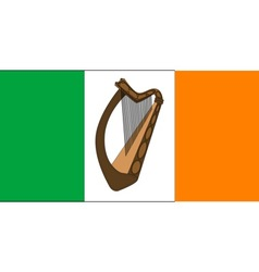 Irish Flag With Harp vector