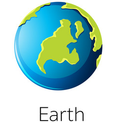 Isolated earth on white background vector