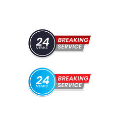 Latest news icons breaking news for journalists vector