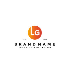 Letter lg logo design vector