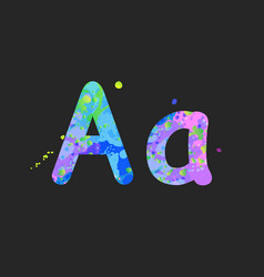 Letters a uppercase and lowercase vector