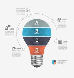 light bulb modern infographic template vector image