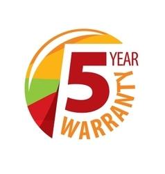 Logo 5 years warranty vector