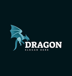 Logo dragon gradient colorful style vector
