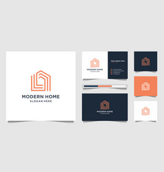 Logo modern home for construction home real vector