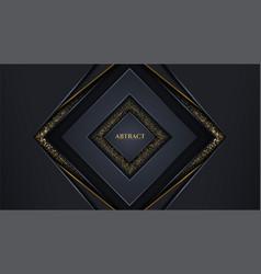Luxury modern dark background overlap layer vector