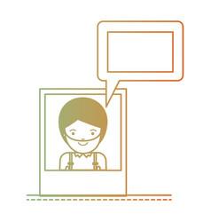 man social network picture profile dialogue vector image